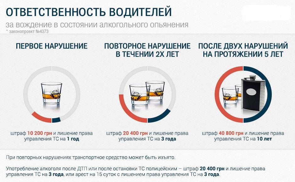 В Украине введут штраф до 40 тыс грн за вождение в пьяном виде 2