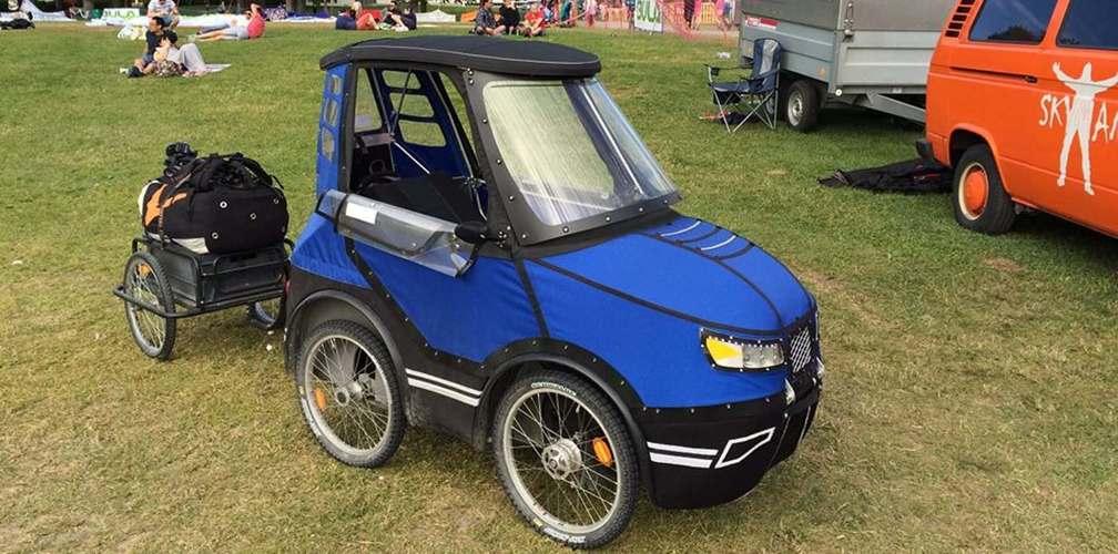Житель Швеции создал «симбиоз» автомобиля и велосипеда 2