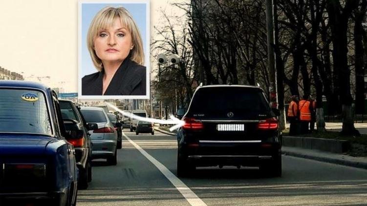 Нардеп Ирина Луценко ездит на работу с нарушением ПДД 1