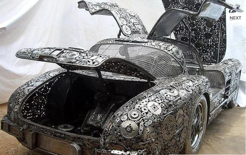 Невероятно, но факт: шикарный раритетный автомобиль собран из металлолома 4