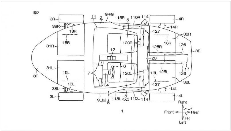 Yamaha получила патент на автомобиль-амфибию 1