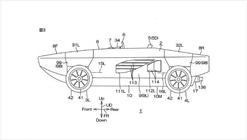 Yamaha получила патент на автомобиль-амфибию 2