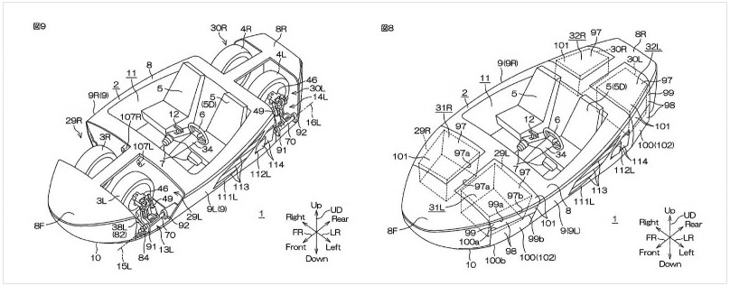 Yamaha получила патент на автомобиль-амфибию 4