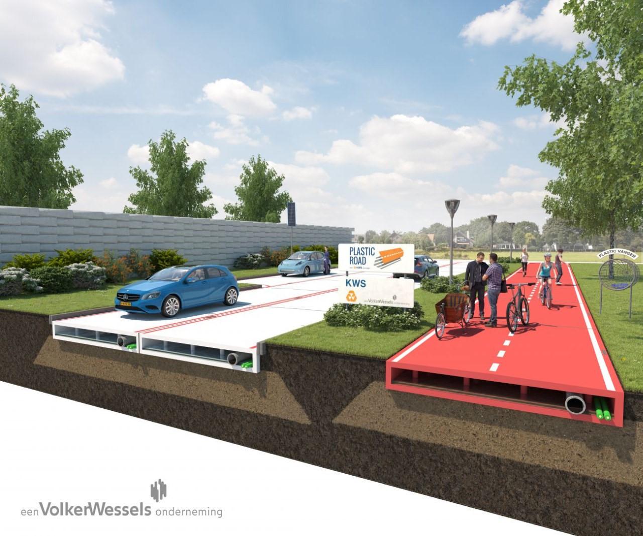 Голландцы будут ездить по дорогам из пластика 1