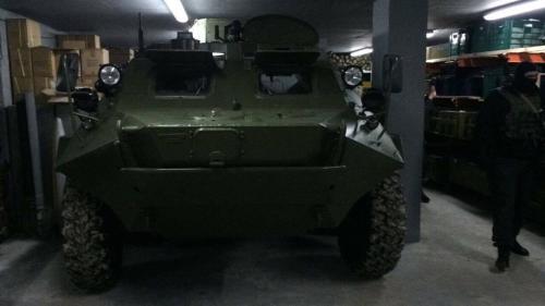 В Украине в подземном бункере обнаружили БТР 1
