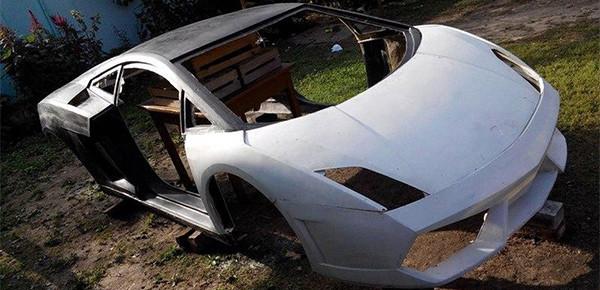 Белорусы создали копию кузова Lamborghini Gallardo 1