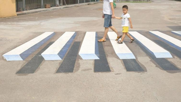 На индийских дорогах появились «3D-зебры» 1