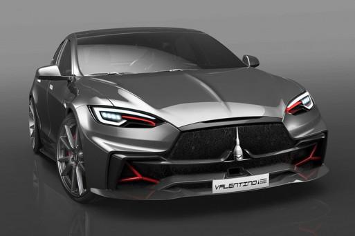 Дизайнерская студия из Италии превратит Tesla Model S в Valentino 1
