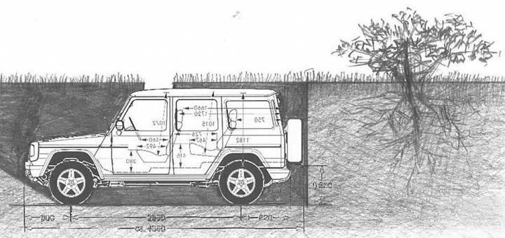 Кто и зачем закопал Gelandewagen под землю 1