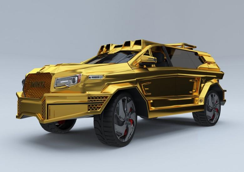 Президенту подарят машину из бриллиантов и рулем за $30 тыс 3