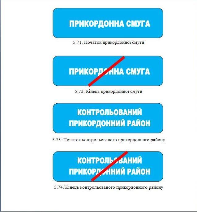 В Украине появились новые дорожные знаки 1