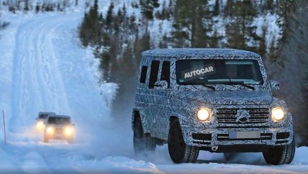«Заряженные» прототипы нового «Гелендвагена» выпустили на снег 1