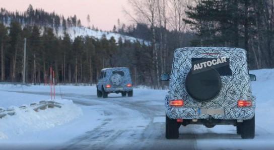 «Заряженные» прототипы нового «Гелендвагена» выпустили на снег 3