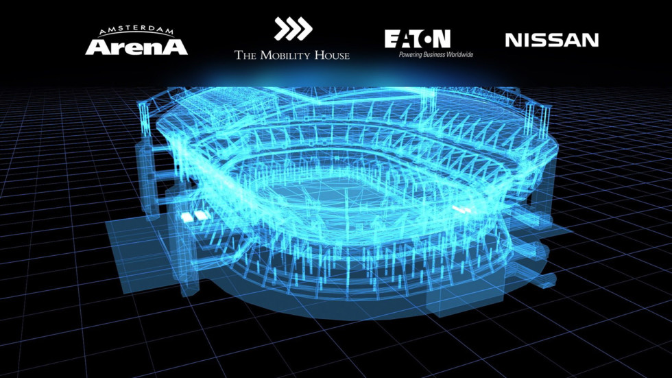 Батареи электромобилей Nissan Leaf обеспечат энергией целый стадион 2