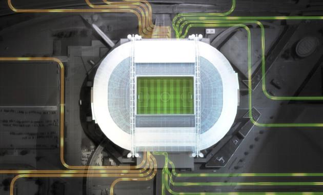 Батареи электромобилей Nissan Leaf обеспечат энергией целый стадион 1