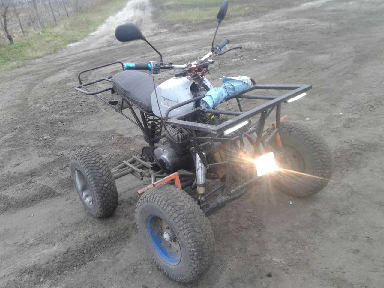 Украинец собрал в гараже мощный квадроцикл 2