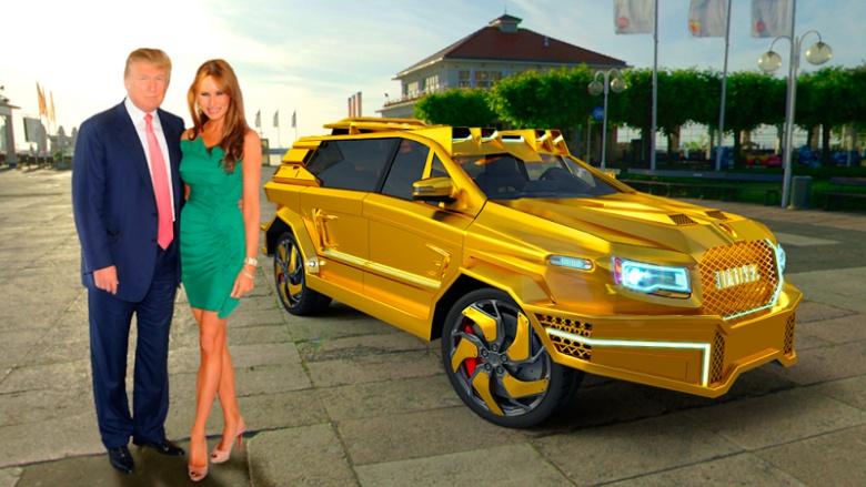 Президенту подарят машину из бриллиантов и рулем за $30 тыс 1
