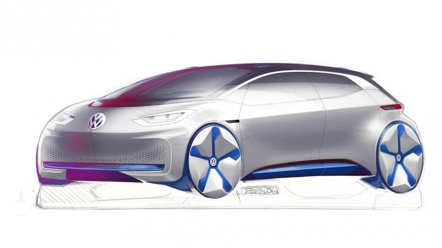 Появилось первое изображение электромобиля Volkswagen 1