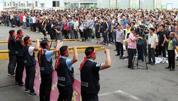 Сотрудники Hyundai устроили крупнейшую забастовку 2