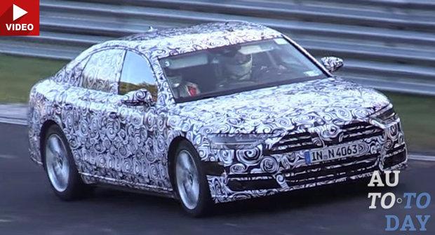 Новая Audi A8 замечена во время дорожных испытаний 1