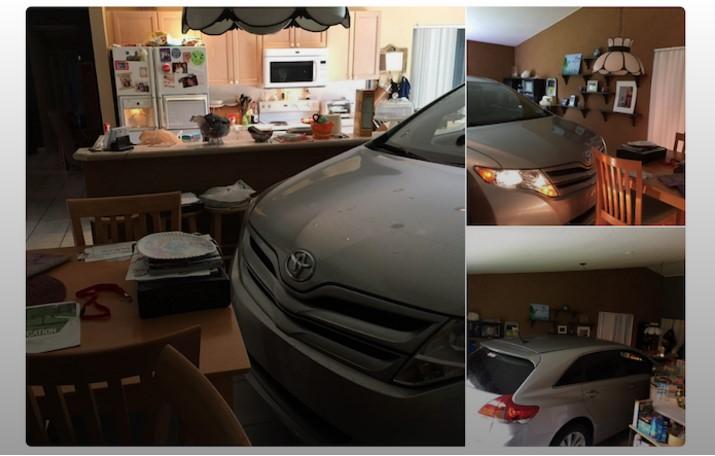 Автоледи спасла свой Toyota от урагана, «припарковав» машину в комнате 1