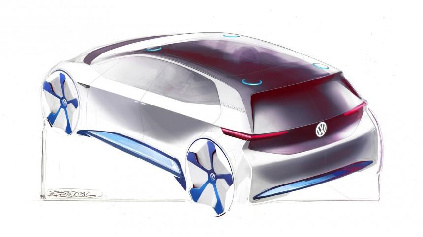 Появилось первое изображение электромобиля Volkswagen 2