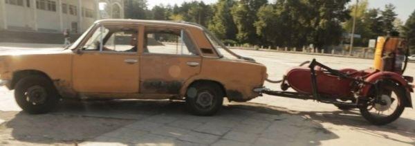 Украинец «заставил» свои Жигули ездить на дровах 1