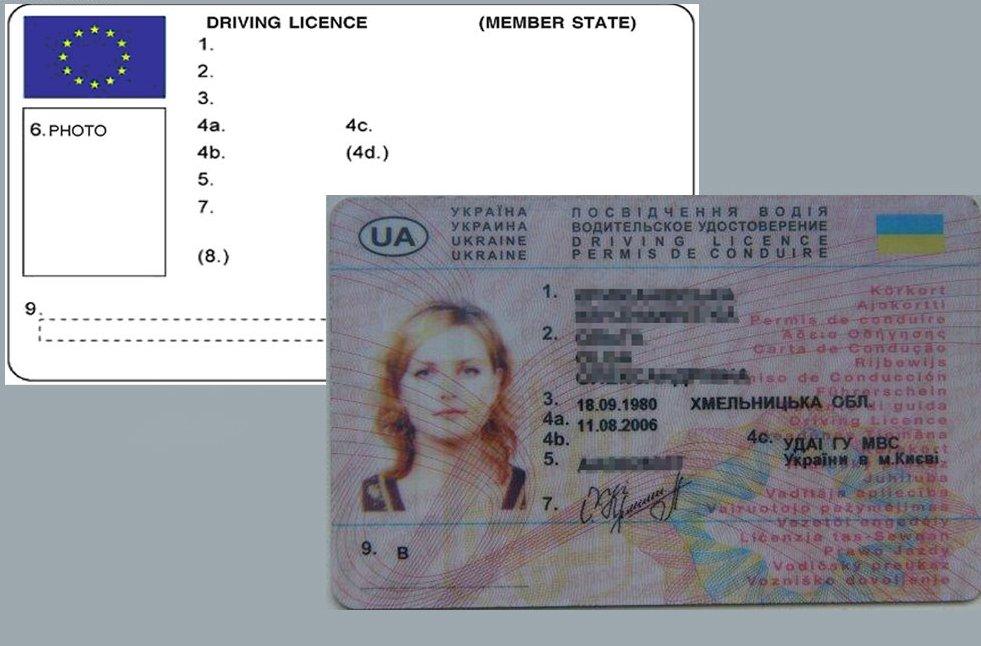 В Украине будут выдавать новые водительские права 1
