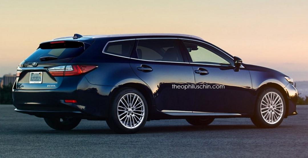 В Сети активно обсуждают рендер нового Lexus ES SportCross 1