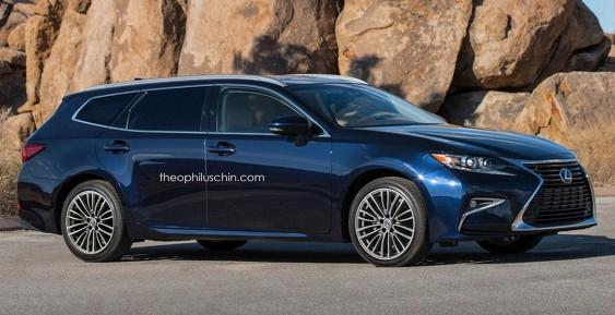 В Сети активно обсуждают рендер нового Lexus ES SportCross 2