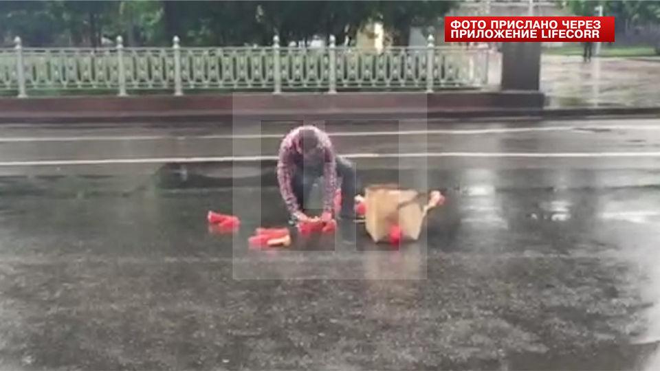 Причиной затора в центре Москвы стали фаллоимитаторы 1