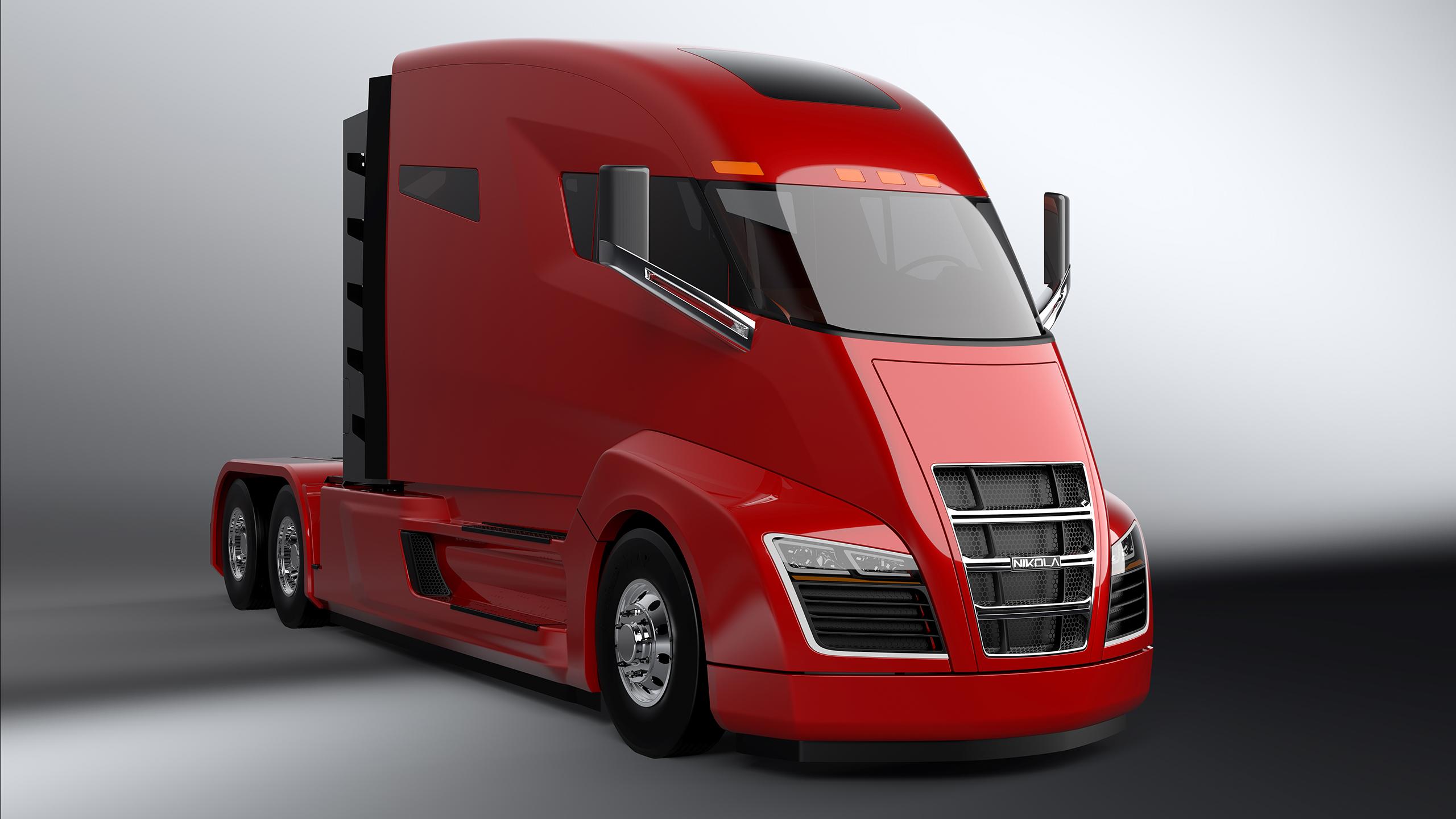 Компания Nikola показала концепт электрического грузового автомобиля 1