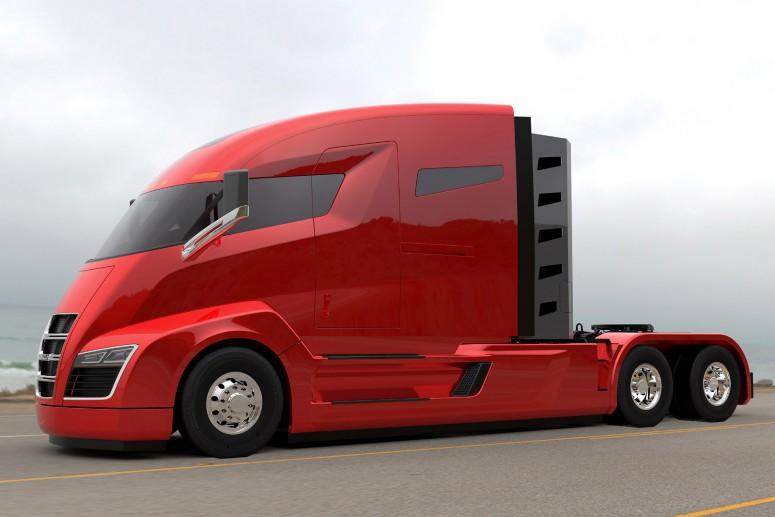 Компания Nikola показала концепт электрического грузового автомобиля 2