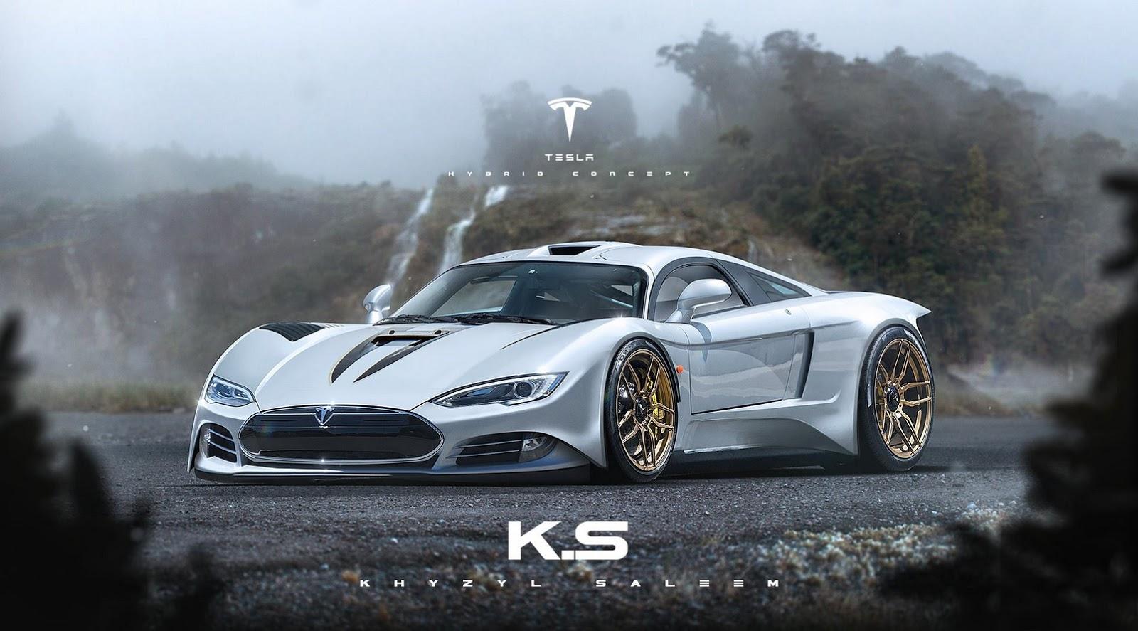 Эксперты высмеивают новый суперкар Tesla 1