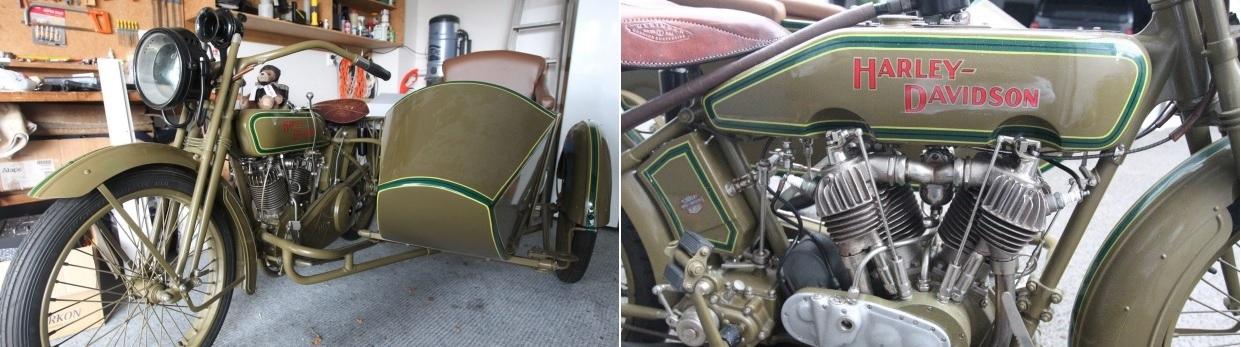 Энтузиаст два десятилетия восстанавливал мотоцикл Harley-Davidson 1