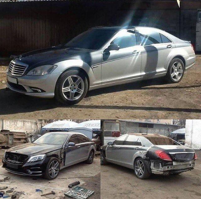 Как украинцы «превращают» старые автомобили Mercedes и Toyota в «новые» 1