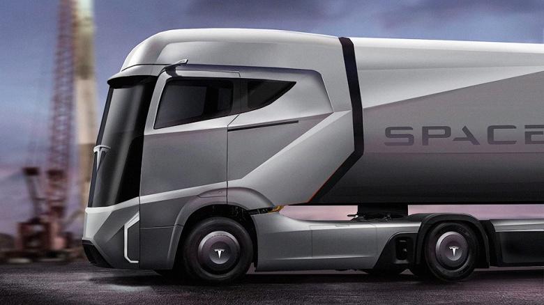 Компания Tesla показала часть нового грузовика 2