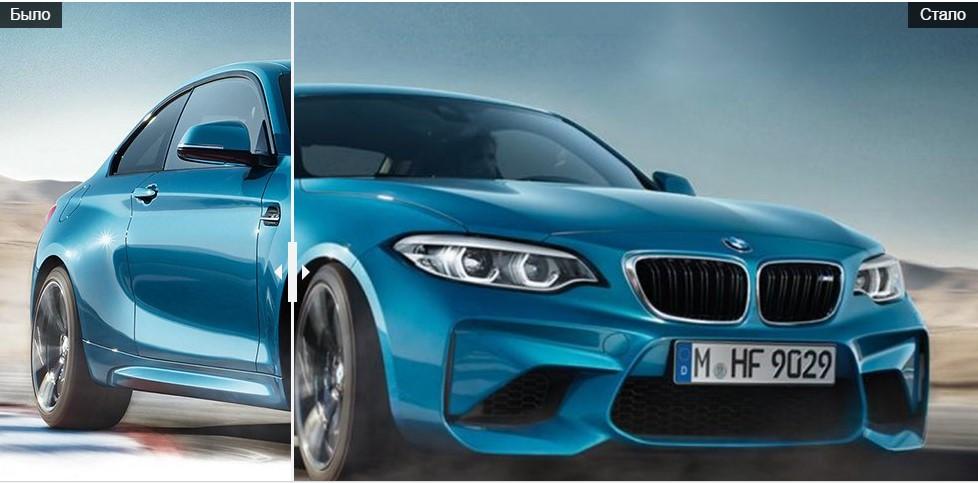 Обновлённый BMW M2 мало отличается от предшественника 1