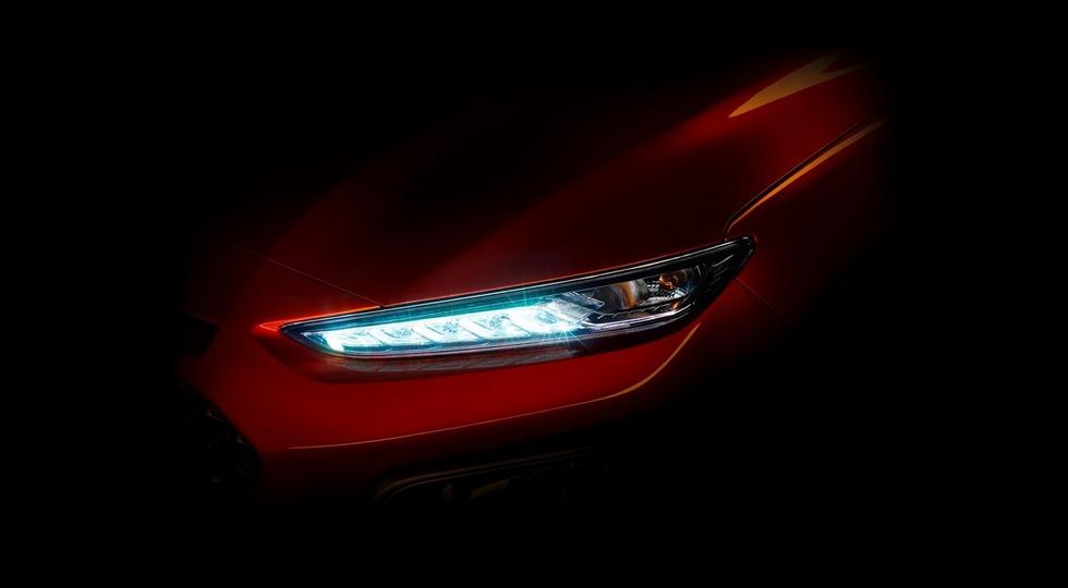 Опубликовано новое изображение компактного кроссовера Hyundai Kona 1