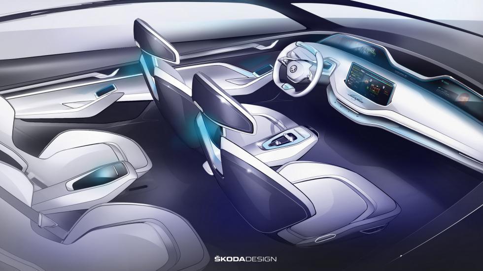 На автошоу в Шанхае показали новый Skoda Vision E 3