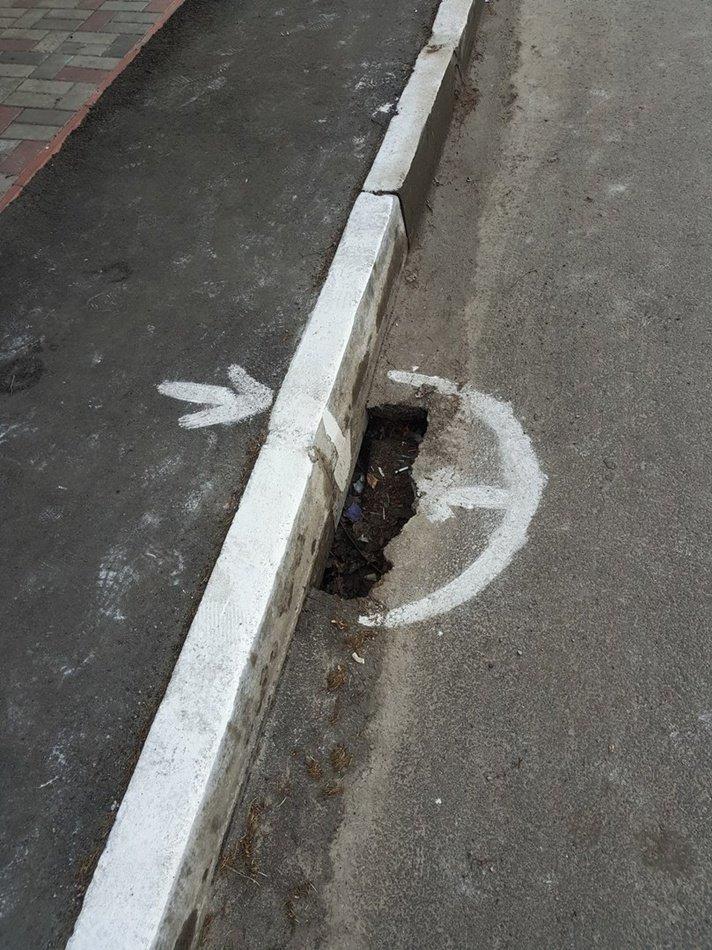 После ремонта дорог ямы только увеличились 1