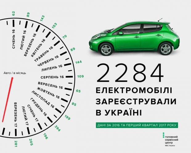 Названы самые популярные электромобили в Украине 1