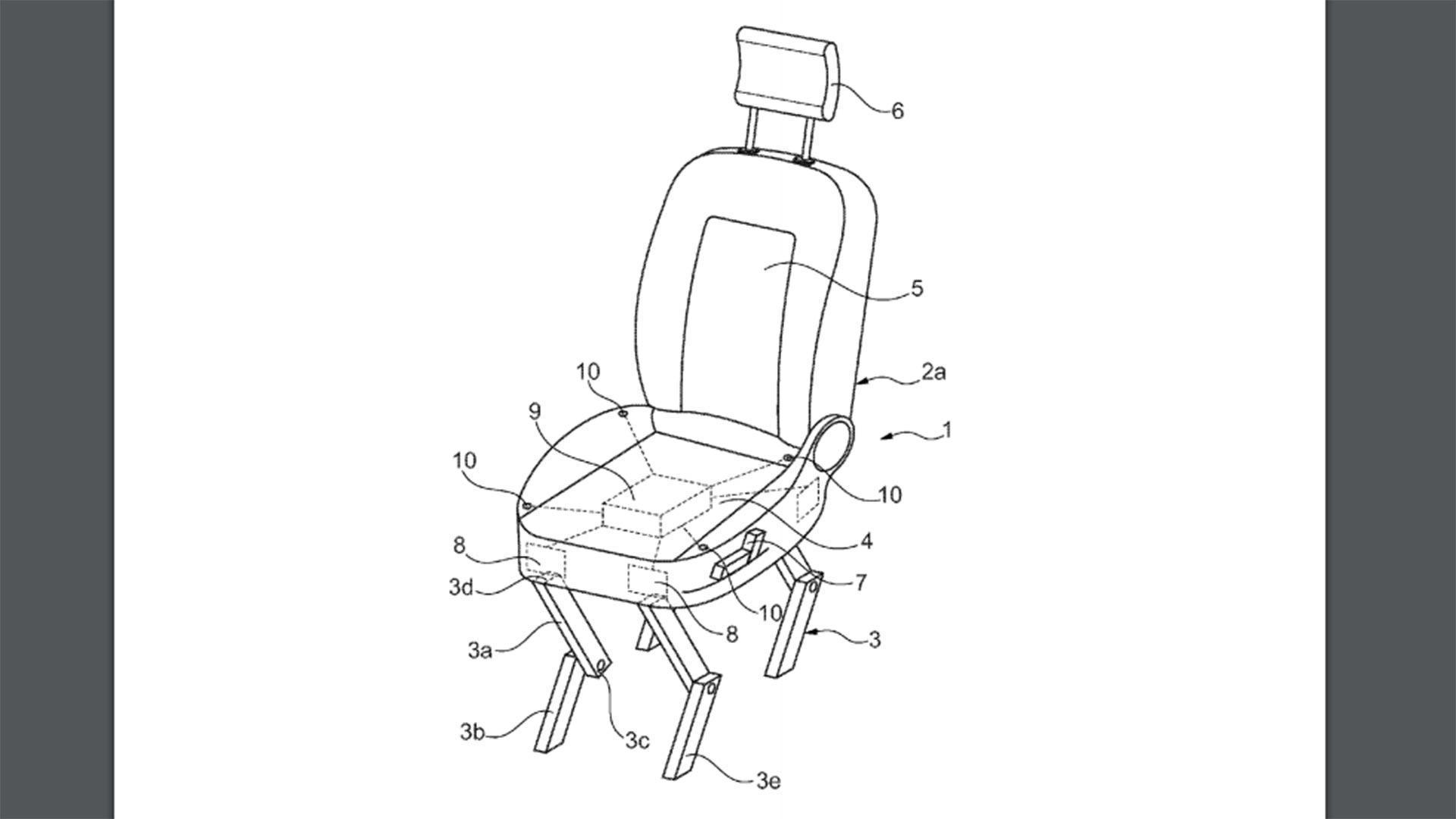 Ford запатентовал автомобильные сиденья с «ногами» 1
