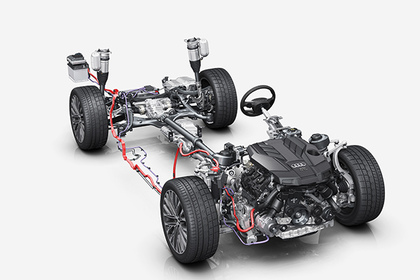 Новый Audi A8 «перевели на 48 вольт» 1