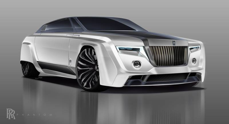 Как будет выглядеть Rolls-Royce Phantom в 2050 году? 1