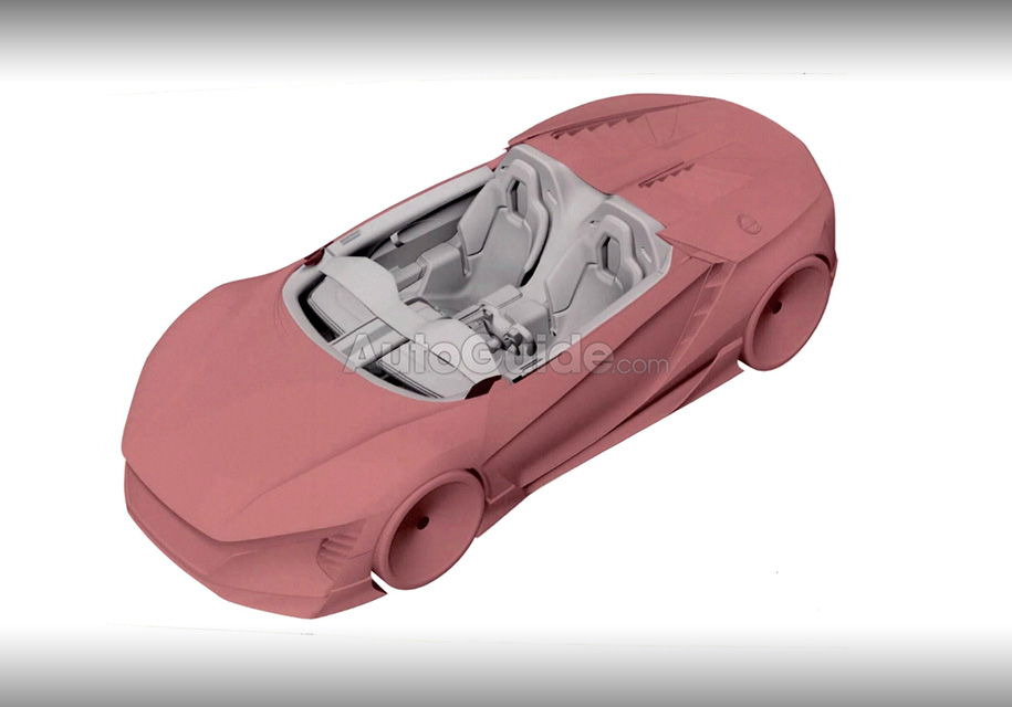 Марка Honda запатентовала салон суперкара с прямоугольным рулем 2