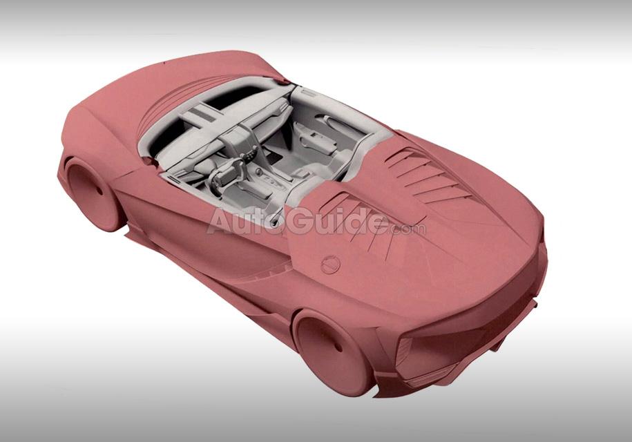 Марка Honda запатентовала салон суперкара с прямоугольным рулем 1