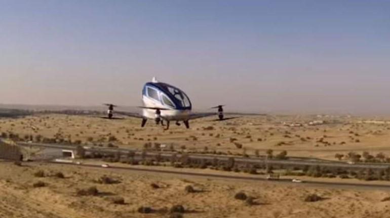 В ОАЭ на высоте 3000 м прошли испытания первых «летающих такси» 1