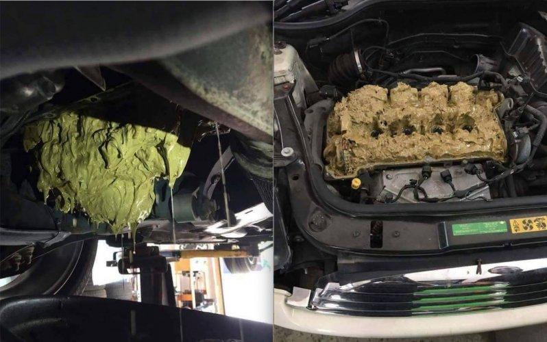 Автоледи залила в мотор машины «омывайку» - результат «плачевный» 1