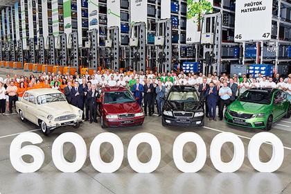 С конвейера Skoda сошел шестимиллионный автомобиль Octavia 1
